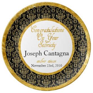 Any Year Sobriety Celebration Plate