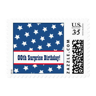 Any Year STARS Surprise Birthday Party A01 Postage