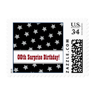 Any Year STARS Surprise Birthday Party A02 Postage