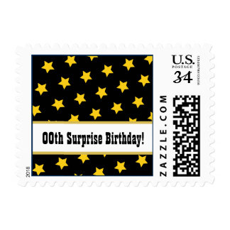 Any Year STARS Surprise Birthday Party A03 Postage