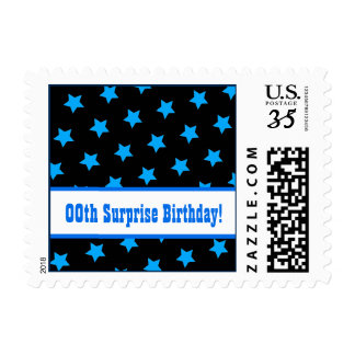 Any Year STARS Surprise Birthday Party A05 Postage