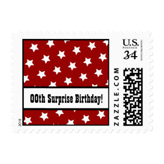 Any Year STARS Surprise Birthday Party V08 Postage