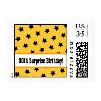 Any Year STARS Surprise Birthday Party V08B Postage