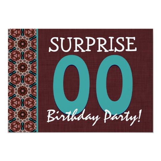 Any Year Surprise Birthday Aqua and Chocolate V5 Card