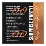 Any Year SURPRISE Birthday Black Gold Wood V02A Card