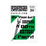 Any Year SURPRISE Birthday Funny Zip Your Lip! V07 Postage Stamp