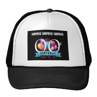 Any Year SURPRISE Birthday Party Balloons A18A Trucker Hat