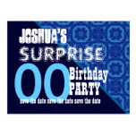 Any Year Surprise Birthday Save the Date W004Z Postcard