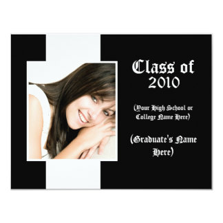 """Any Year ~ Traditional Graduation Announcement 4.25"""" X 5.5"""" Invitation Card"""