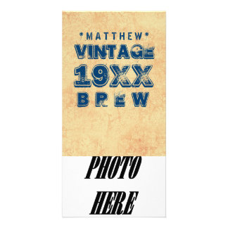 Any Year VINTAGE BREW Grunge Text Gold G11Z Card
