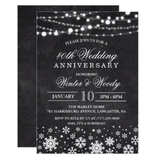 ANY YEAR - Wedding Anniversary Chalk Invitation