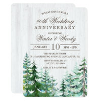 ANY YEAR - Wedding Anniversary Rustic Invitation