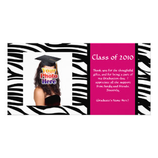 Any Year~ Zebra Graduation Thank You/Announcement Photo Card
