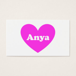 Anya Business Card