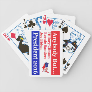 Anybody but Hillary, biden,sanders Bicycle Playing Cards