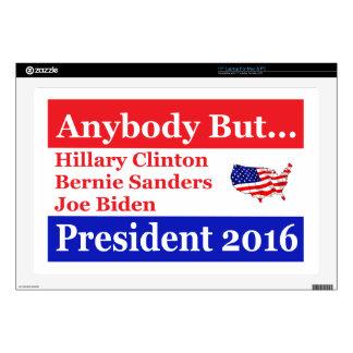 Anybody but Hillary, biden,sanders Laptop Decals