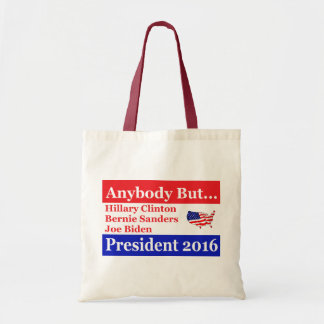 Anybody but Hillary, biden,sanders Tote Bag