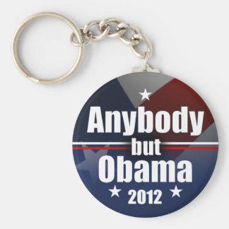 Anybody but Obama 2012 Basic Round Button Keychain