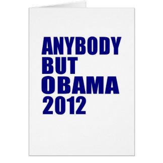 Anybody But Obama 2012 Card