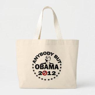 Anybody But Obama - 2012 Large Tote Bag