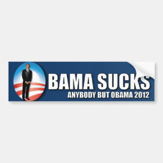 Anybody but Obama 2012 - Obama Sucks Car Bumper Sticker