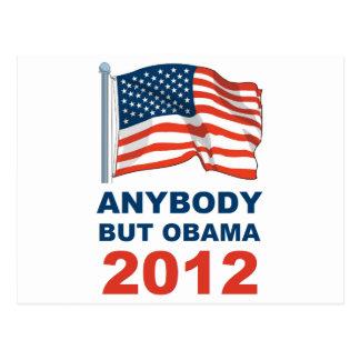 Anybody but Obama 2012 Postcard