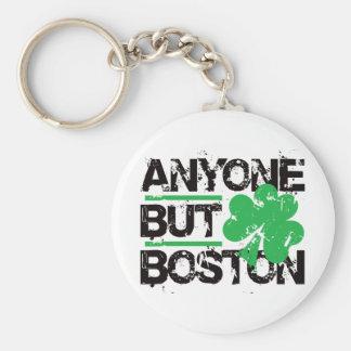 Anyone But Boston! Basic Round Button Keychain