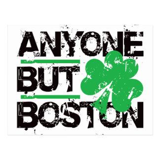 Anyone But Boston! Postcard