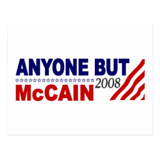 Anyone But Mccain Postcard
