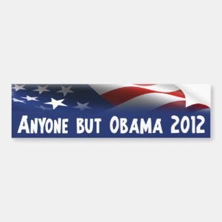 Anyone But Obama 2012 Car Bumper Sticker