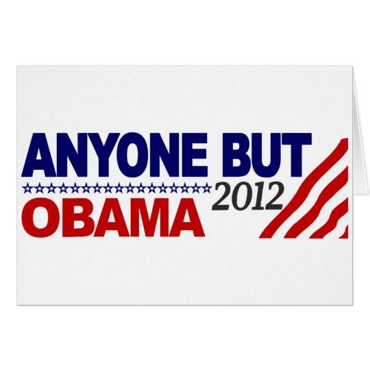 Anyone But Obama 2012 Card