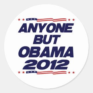 Anyone But Obama 2012 Classic Round Sticker