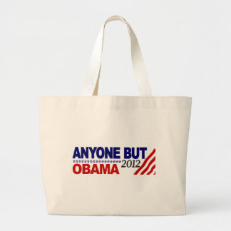 Anyone But Obama 2012 Large Tote Bag