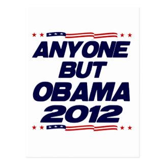 Anyone But Obama 2012 Postcard