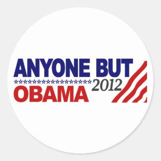 Anyone But Obama 2012 Round Stickers