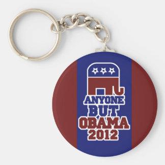 Anyone BUT Obama antiobama 2012 Basic Round Button Keychain