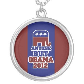 Anyone BUT Obama antiobama 2012 Round Pendant Necklace