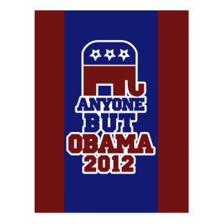 Anyone BUT Obama antiobama 2012 Post Cards