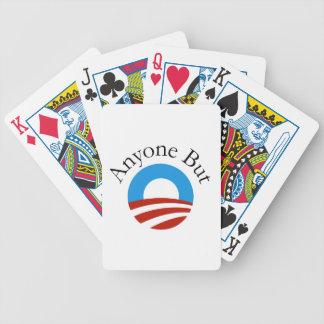 Anyone But Obama w/Logo Bicycle Playing Cards