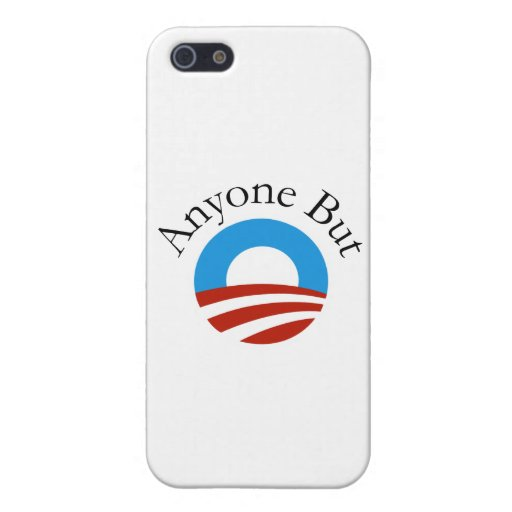 Anyone But Obama w/Logo Case For iPhone 5/5S