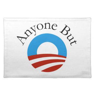 Anyone But Obama w/Logo Cloth Placemat