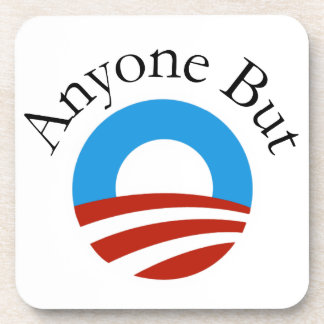 Anyone But Obama w/Logo Drink Coasters