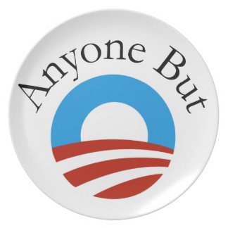 Anyone But Obama w/Logo Plate