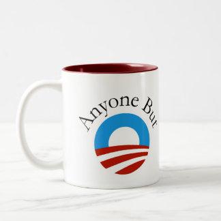 Anyone But Obama w/Logo Two-Tone Coffee Mug