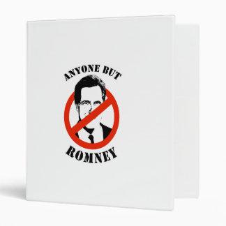 Anyone but Romney 3 Ring Binder