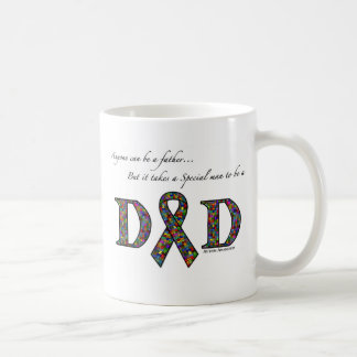 Anyone can be a father...autism classic white coffee mug