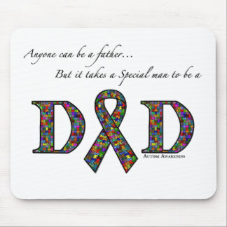 Anyone can be a father...autism mouse pad