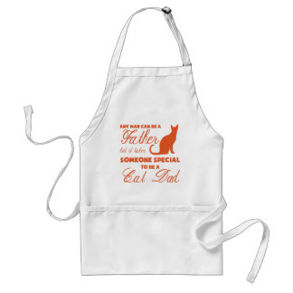 Anyone Can Be A Father (orange) Adult Apron