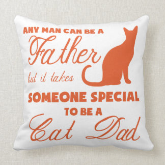 Anyone Can Be A Father (orange) Throw Pillow