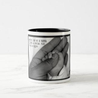 Anyone Can Be A Father Two-Tone Coffee Mug